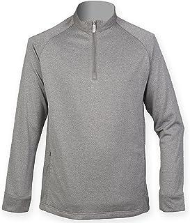 Henbury Mens Quarter Zip Long Sleeve Top