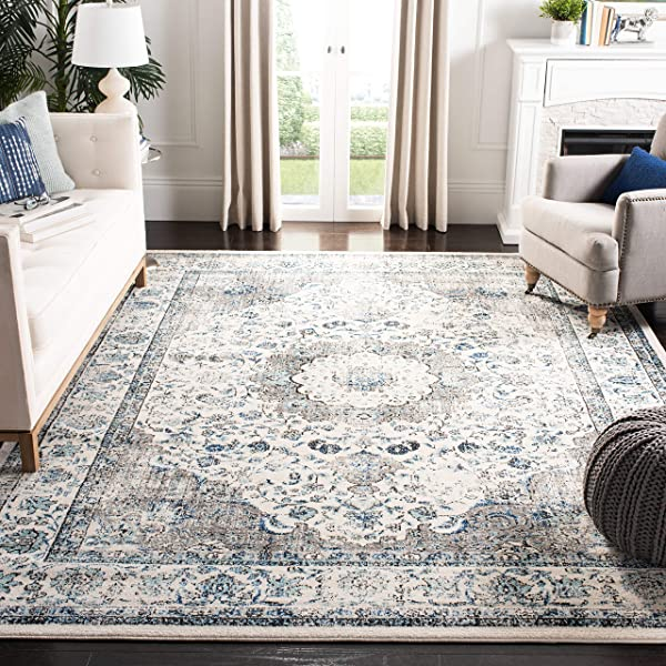 Safavieh Evoke Collection Vintage Oriental Grey And Ivory Area Rug 6 7 X 9
