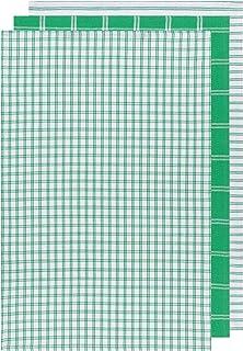 Now Designs Greebriar Tic Tac Toe Dishtowels Set of 3 Kitchen Towel, Green 3 Each