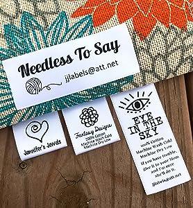 30 Custom Printed Satin Fabric Labels Sew On