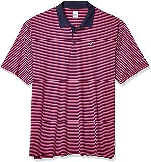Callaway Men's Refined 3 Color Stripe Short Sleeve Golf Polo Shirt