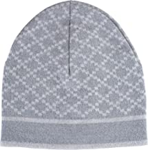 Gucci Unisex Multi-Color 100% Wool Beanie Hat One Size Gray/White
