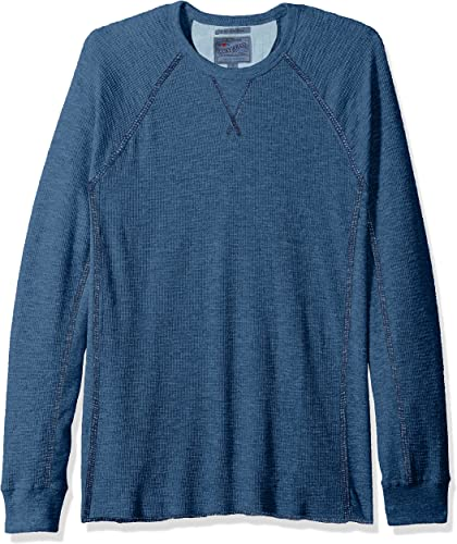 Lucky Brand Hommes's Strong Boy Thermal Crew Shirt, Indigo, L