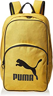 Puma Originals Backpack Retro Woven Sulphur Yellow Bag For Unisex, Size One Size