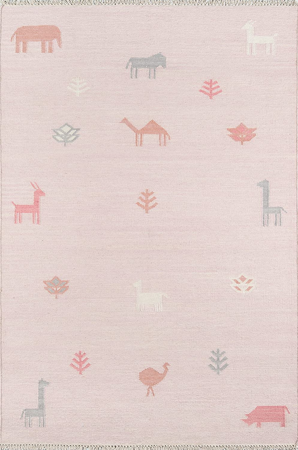 Erin Gates by Momeni Thompson Porter Pink Hand Woven Wool Area Rug 2' X 3'