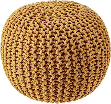 REDEARTH Round Pouf Ottoman -Poof Pouffe Accent Chair Circular Seat Footrest for Living Room, Bedroom, Nursery, kidsroom, Pat