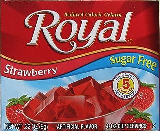 Royal Strawberry Reduced Calorie Gelatin - Sugar Free - 6 of .32 oz pkgs