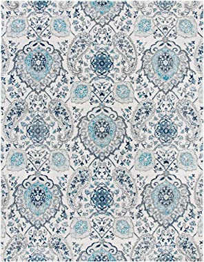 Safavieh Madison Collection MAD600C Boho Chic Glam Paisley Non-Shedding Stain Resistant Living Room Bedroom Area Rug, 8'