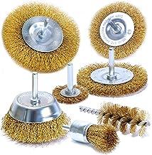 S&R draadborstelset 7 stuks voor boormachine Staaldraadborstels - ronde as 6mm - schijfborstels 38, 50, 75, 100 mm, bekerb...