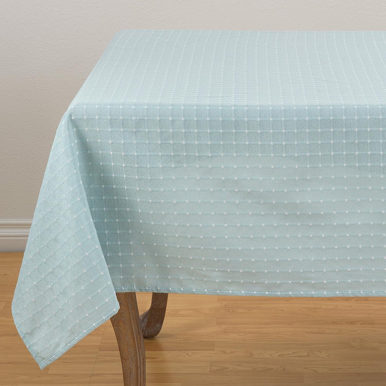 Fennco Styles Modern Stitched Line Tablecloth Popular 65