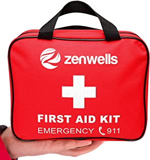 First Aid Kit Best for Emergency and Disaster Preparedness - 192 Deluxe Medical Supplies for Home, Car, Survival Gear or Backpacking - Travel First Aid Kits to Keep Your Family Safe