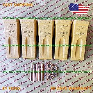 5 PK 1U3302 1U-3302 Bucket Teeth, 9J2308 Pins,8E6259 Retainer FITS CAT E180 E215