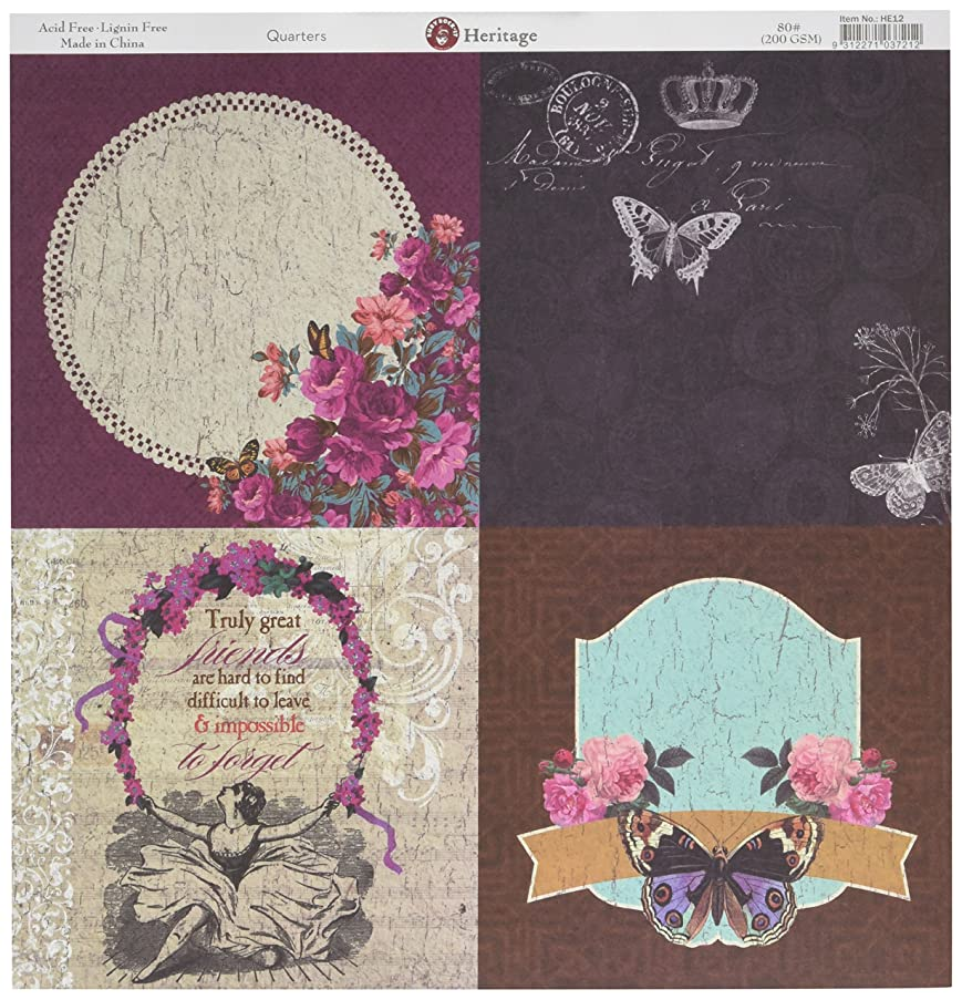 Ruby Rock-It Heritage Double-Sided Cardstock 12