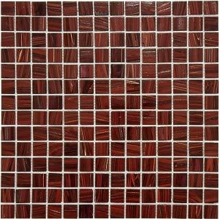 SomerTile GDRCOBUR Fused Glass Mosaic Wall Tile, 12