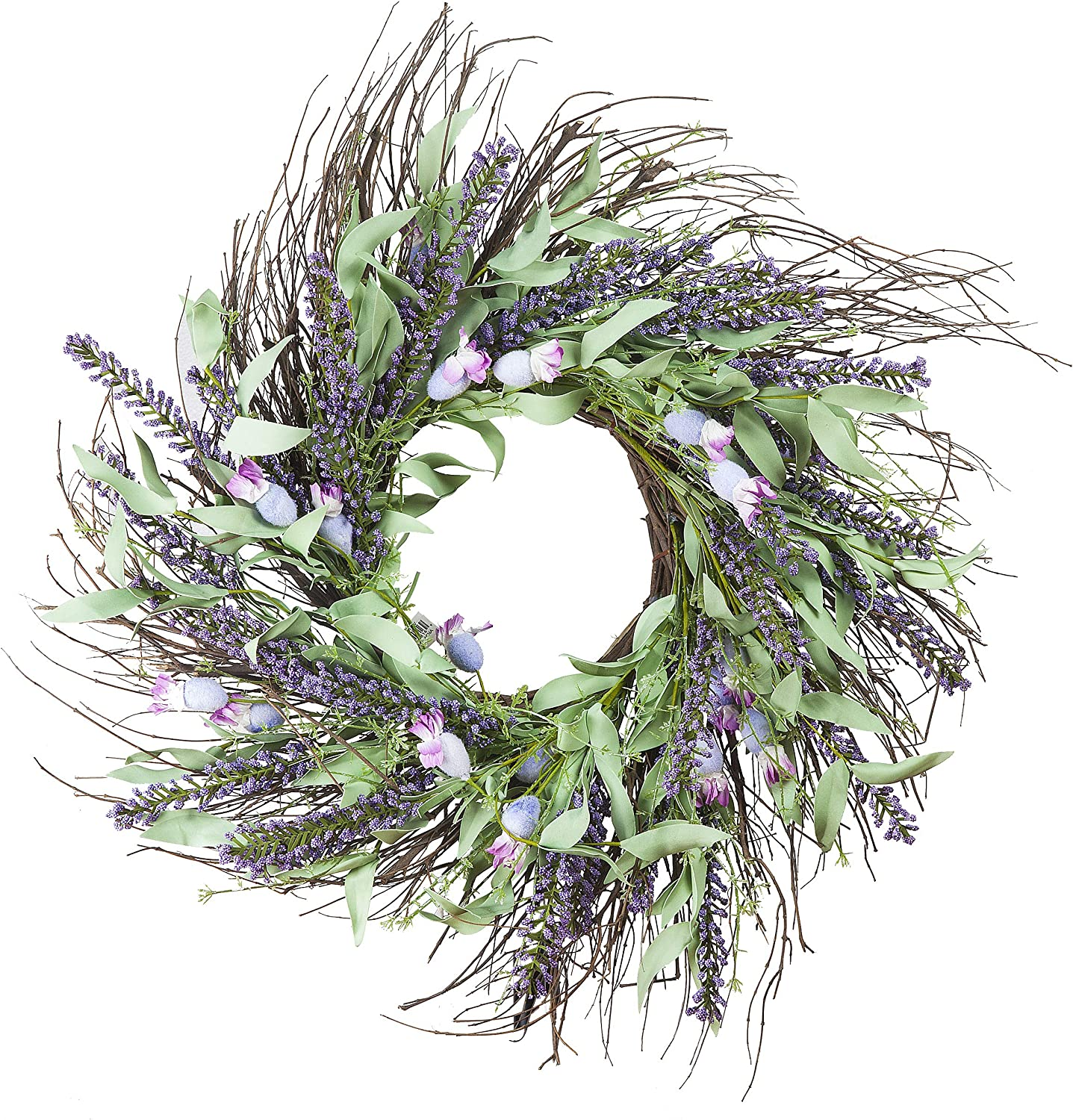 Enova Home 24 inches Mixed for Popular shop is the lowest price challenge Flower Artificial Popular popular Lavender Wreath