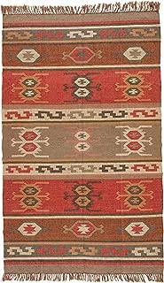 Jaipur Living Thebes Reversible Flatweave Tribal Red Area Rug (5' X 8')