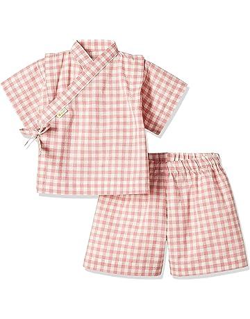 ba1092ff68913 yuga☆甚平 ピンク 80cm オーガニックコットン100% ベビー 服 男の子 女の子 兼用 出産祝い