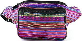 Festival Fanny Pack - Boho Packs for men, women   Cute Waist Bag Fashion Belt Bags (pink horz)