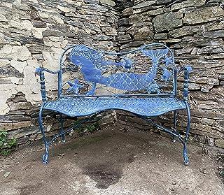 Amazon Com Outdoor Benches Blue Benches Patio Seating Patio Lawn Garden