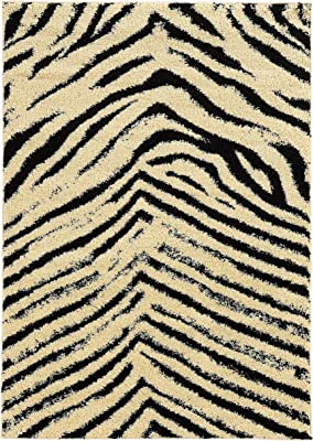 Amazon Com Nuloom Zebra Hand Tufted Plush Wool Rug 3 X