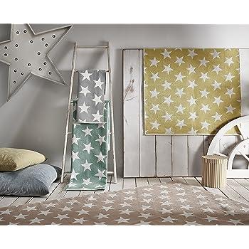 Creative Carpets Alfombra Estrellas, Algodón, Verde Agua, 120 x 180 cm: Amazon.es: Hogar