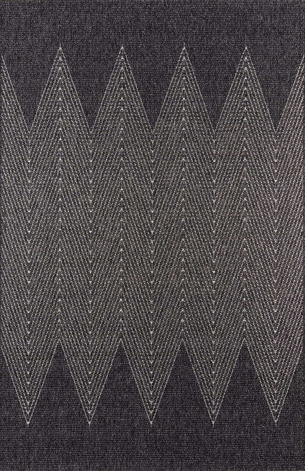 Momeni Rugs COMO0COM-5CHR2776 Como Contemporary Geometric Indoor Outdoor Area Rug, 2'7  x 7'6 , Charcoal
