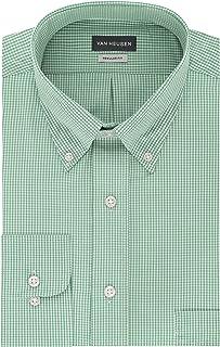 Men's Regular Fit Gingham Button Down Collar Dress Shirt