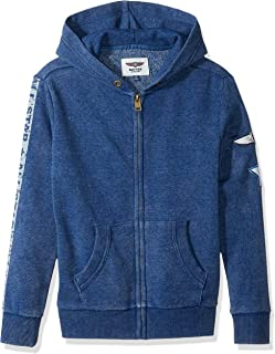 Boys' Mineral Wash Fleece Zip Up Hoodie