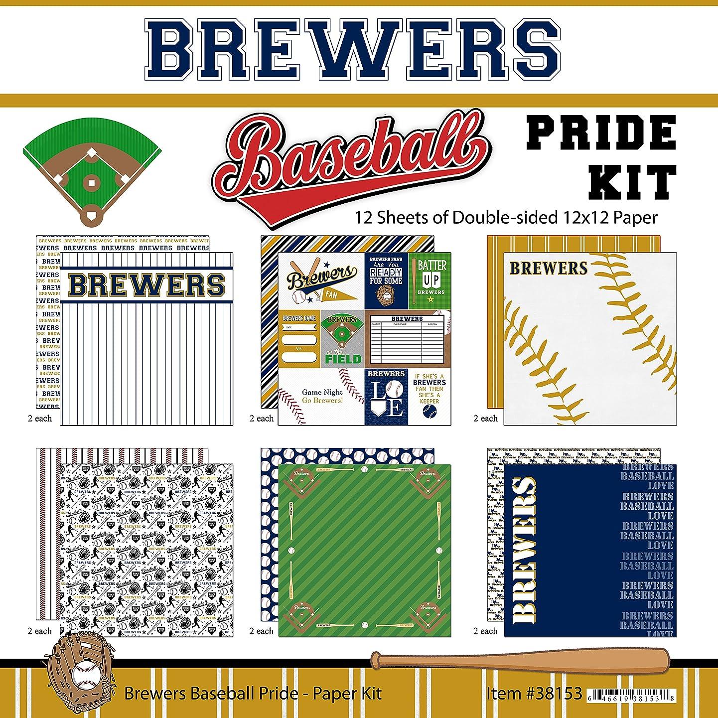 Scrapbook Customs Brewers Pride Baseball Scrapbook Kit