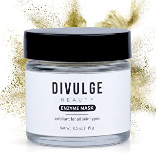 Exfoliating Face Mask for Blackheads, Dry Skin and Acne - Hydrating Enzyme Healing Treatment with Oatmeal for Sensitive Skin, Dark Spot Remover, and Pore Minimizer - Divulge Beauty