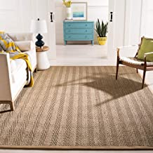 Safavieh Natural Fiber Collection NF115A Herringbone Natural and Beige Seagrass Area Rug (6' x 9')