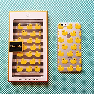 iPhone 8 / 7 Compatible , Colorful Rubber Flexible Silicone Case Bumper for Clear Cover - Yellow Rubber Duck Overload