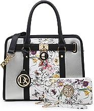 Marco M Kelly Women's Satchel Handbags Top Handle Stylish Purse Vegan Leather Shoulder Bags for Women Wallet Set