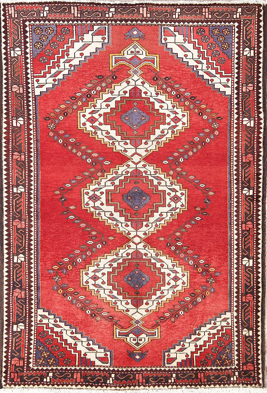 Elegant Clearance Vintage Geometric Ranking TOP4 Red Bakhtiar Wool Rug Area Oriental