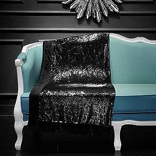 Pop Shop Reversible Mermaid Sequin Throw, Black/Silver