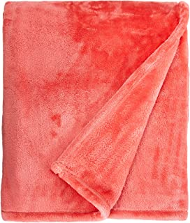Northpoint Cashmere Plush Velvet Throw, Coral