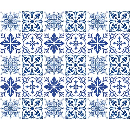 Pack of 20pcs Decorative Tile Stickers 3x3 Peel and Stick Adhesive Floor Coverin