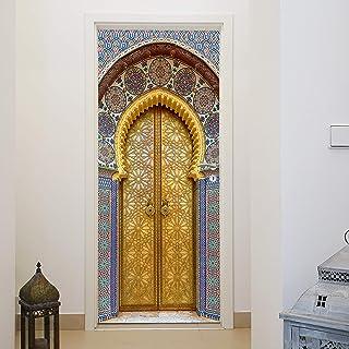 murimage Papel Pintado Puerta Mosaico 3D 86 x 200 cm Incluye Pegamento Marruecos Aladin Luji Entrada Habitación Cocina Fot...