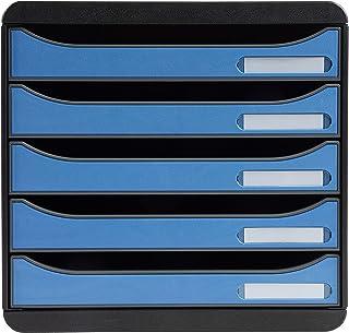 Exacompta - Réf. 3097100D - BIG BOX PLUS -Clean'Safe - Caisson 5 tiroirs pour document A4+ - Dimensions extérieures : Prof...
