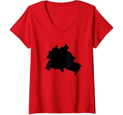 Womens Berlin   German Capital Germany Deutschland Europe European V Neck T Shirt