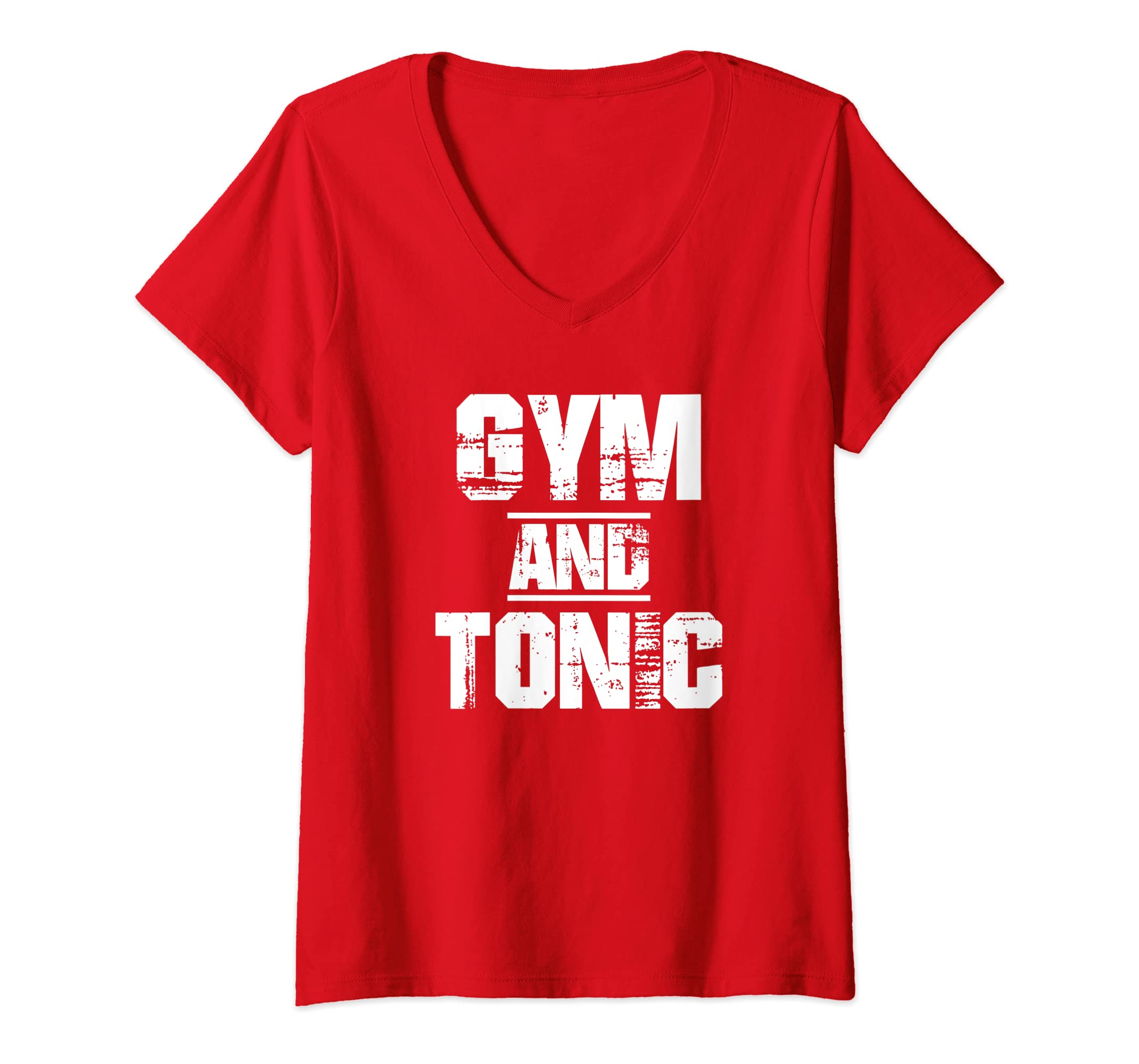 966af97ec Amazon.com: Womens Gym And Tonic T-Shirt Athletic Graphic Drinking Workout  Tees V-Neck T-Shirt: Clothing