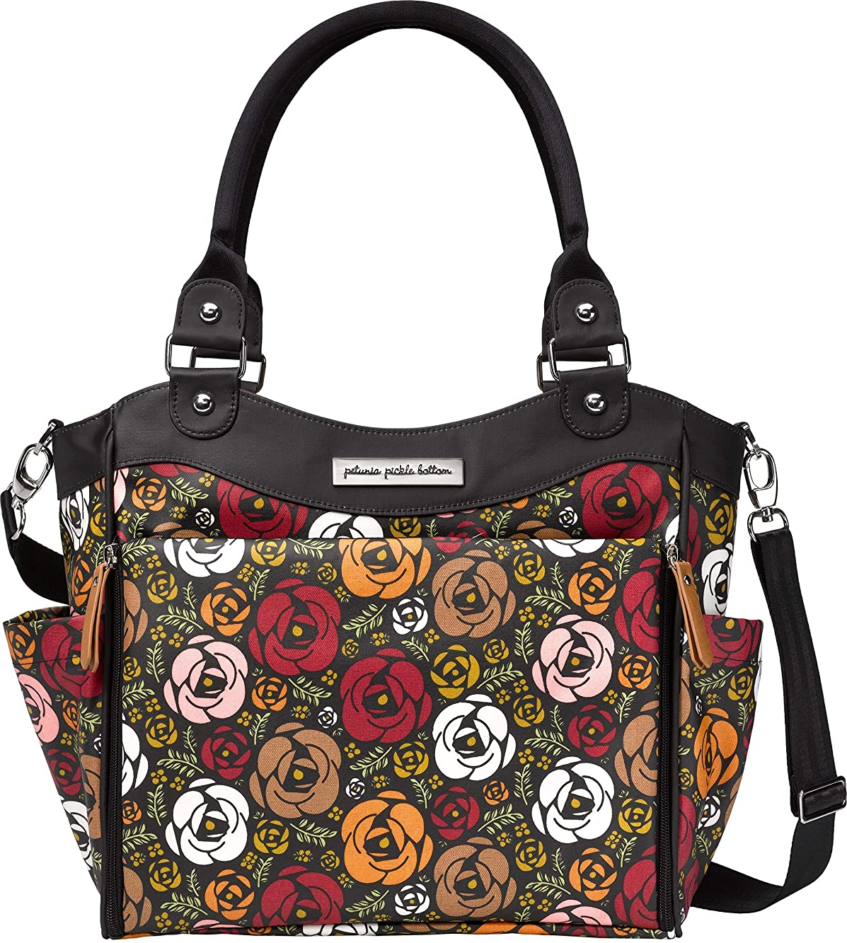暴行アラブ横たわるPetunia Pickle Bottom City Carryall Diaper Bag in Gardens of Gillingham by Petunia Pickle Bottom