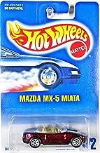Mattel Hot Wheels 1991 1:64 Scale Maroon Mazda MX-5 Miata Die Cast Car Collector #172