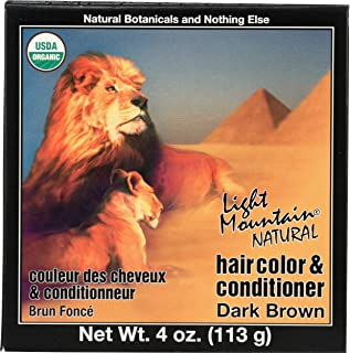 Best Light Mountain Natural Hair Color & Conditioner, Dark Brown - 4 Oz Review
