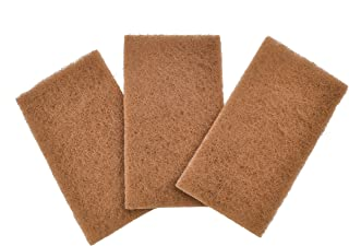 Full Circle Neat Nut Walnut Shell Scouring Pads, Non-Scratch, Set of 3, 5 oz