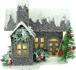 Best cardboard glitter christmas houses Reviews