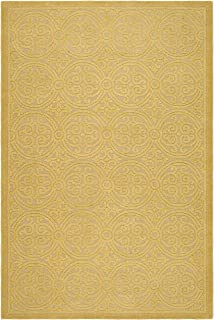 Safavieh Cambridge Collection CAM233A Handcrafted Moroccan Geometric Light Gold and Dark Gold Premium Wool Area Rug (8' x 10')