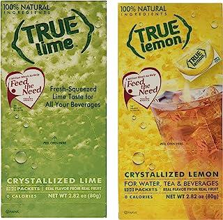 True Lemon & True Lime Bulk Dispenser Packets 100ct each (2pk Variety)