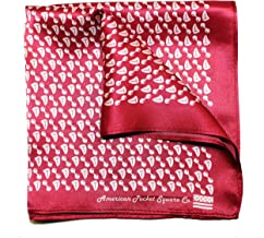 Silk Pocket Square by American Pocket Square Company   Burgundy Red, Pure Silk, Premium Quality for Men: