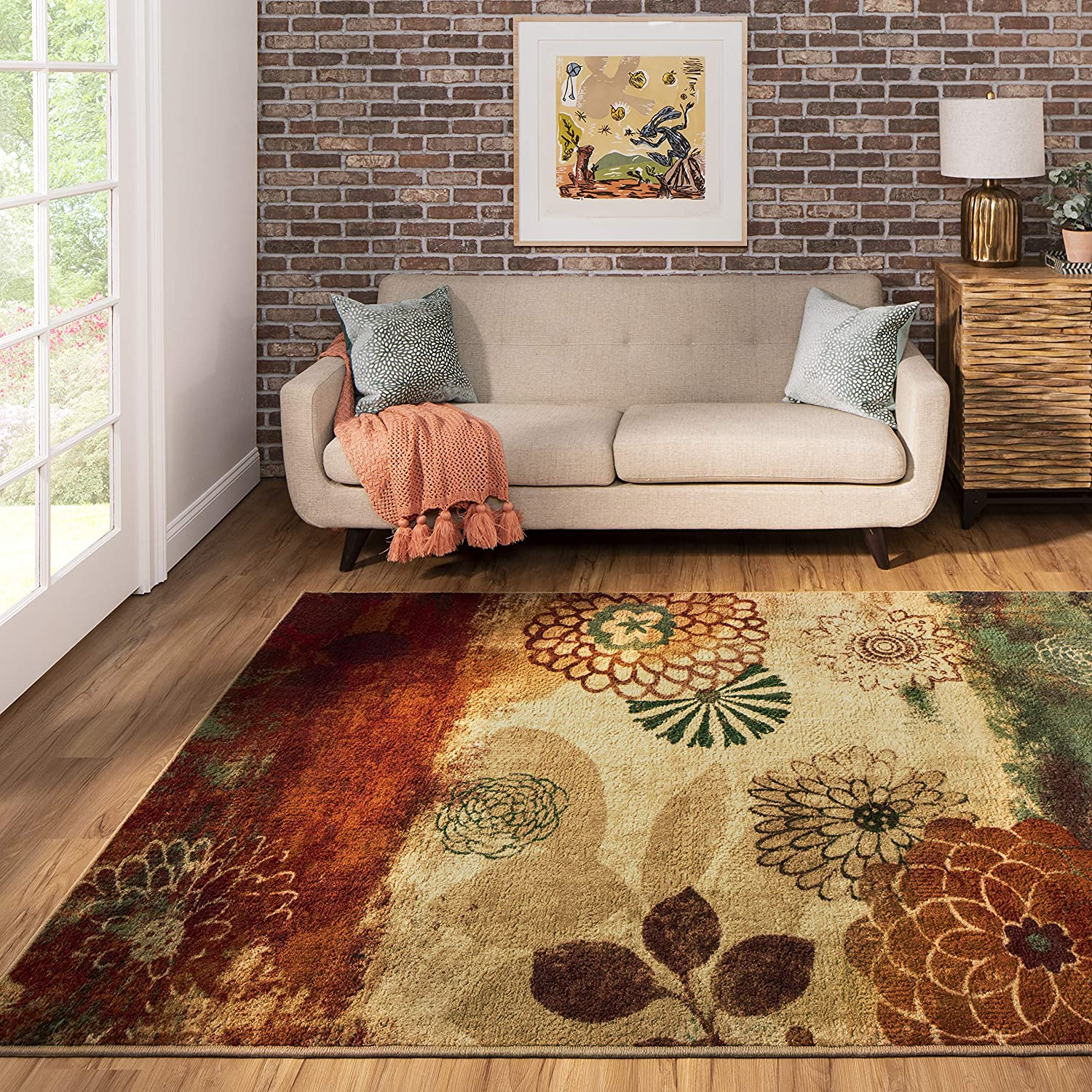 Mohawk Home Pandora Long-awaited Floral Ornamental Multicolo 5'x8' Rug Don't miss the campaign Area